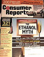 Consumer reports - ethanol myth