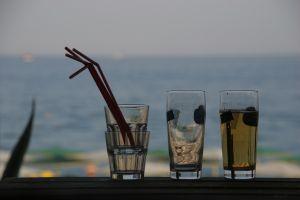Cocktails on beach