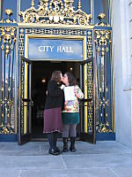 In front of CIty Hall 2004
