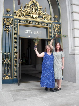 Greta and Ingrid City Hall wedding 2008