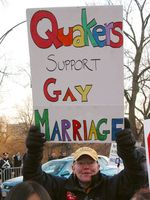 Quakers support gay marriage