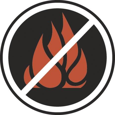 No flame