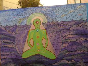 Alien meditating