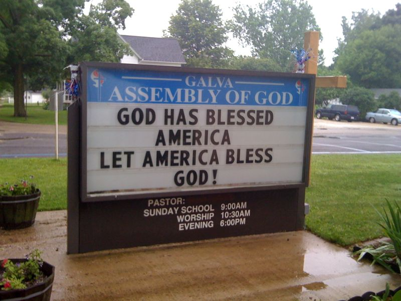 God has blessed america
