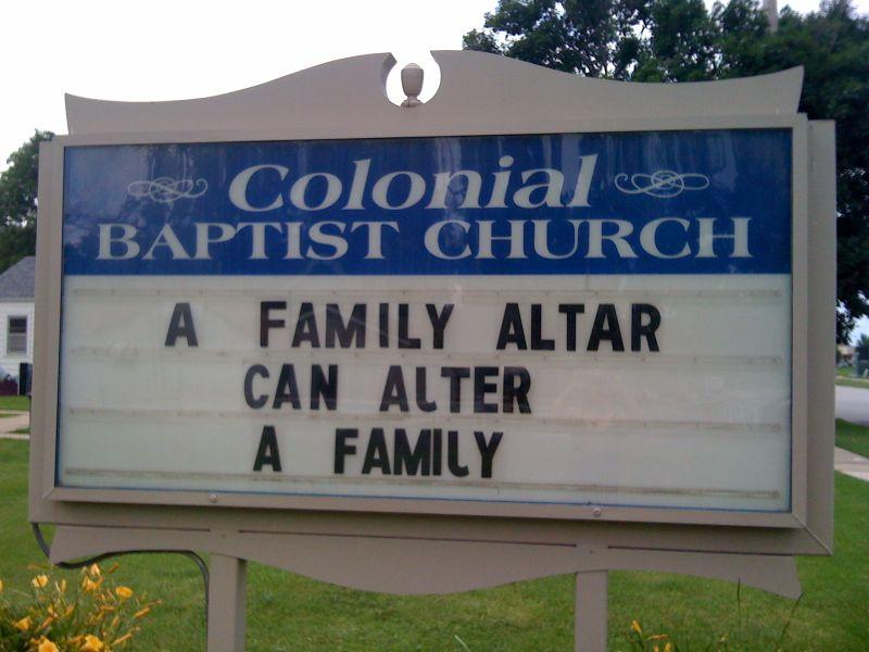 A family altar