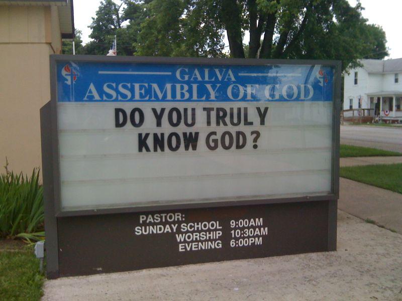 Do you truly know god