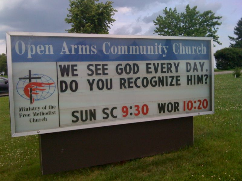 We see god every day open arms