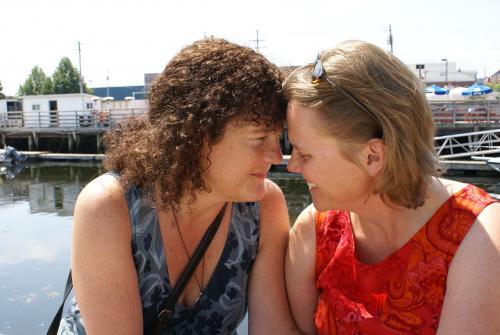 Maine lesbian couple