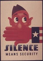 Hand over mouth silence means security