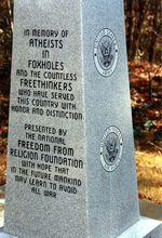 Atheists in foxholes memorial