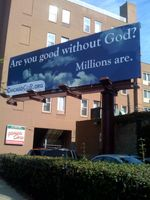 Good without god billboard