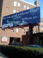 Good without god billboard