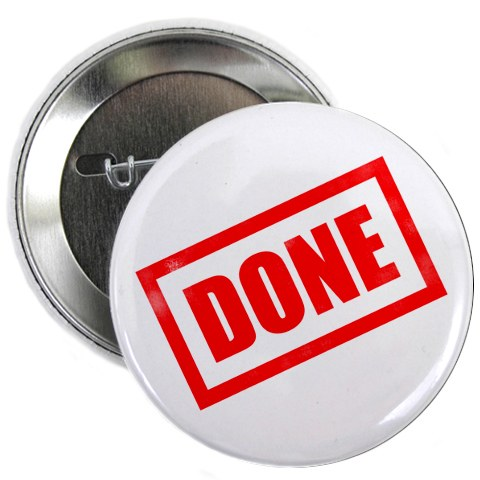 Done button