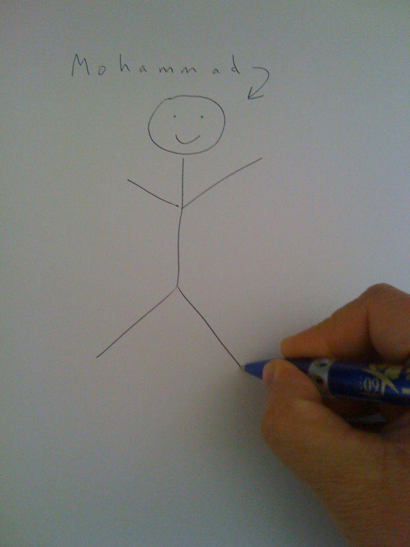 Greta drawing Mohammad