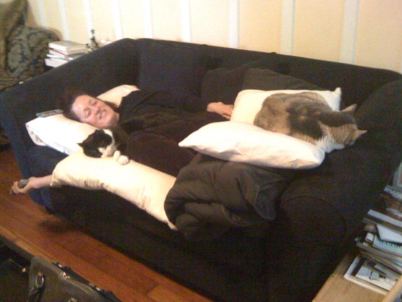 Ingrid Lydia Violet pile of pillows 2