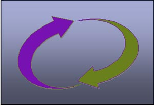 Circle of two arrows