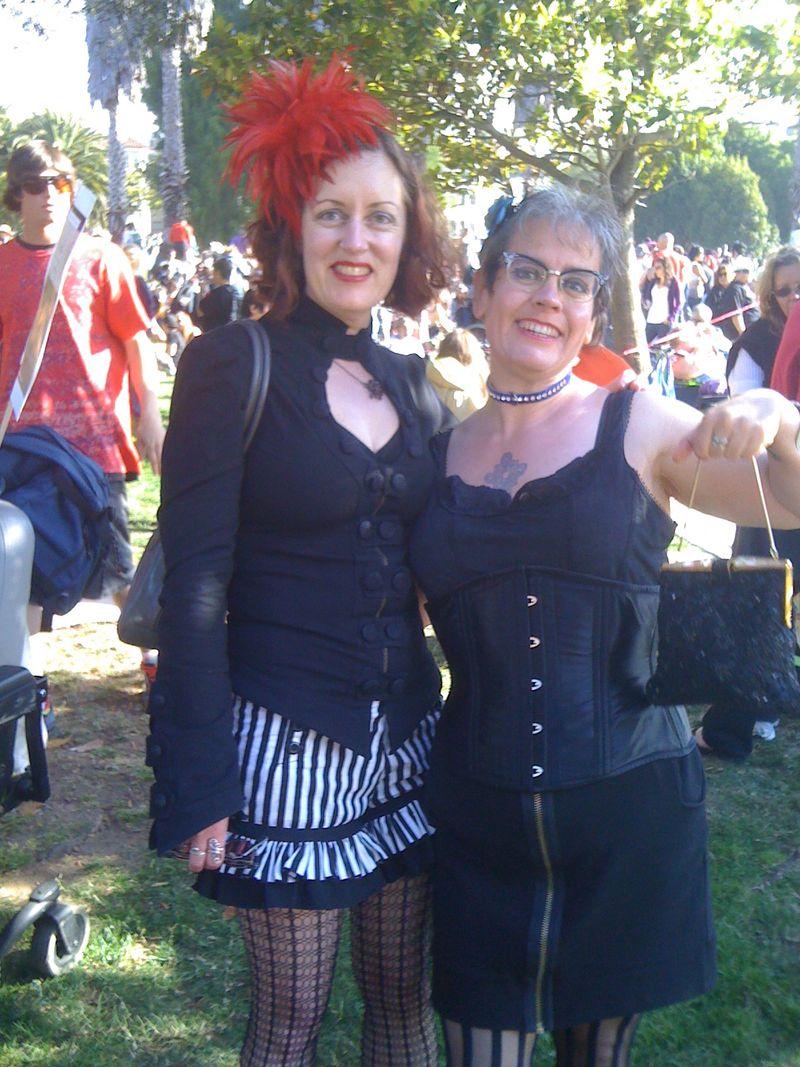 Ingrid and Greta at Dyke March