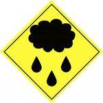 Rain cloud sign