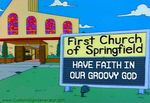 Simpsons church sign