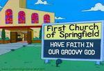 Simpsons church sign