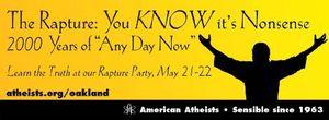 Atheist rapture billboard oakland