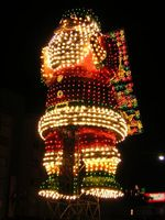 Giant santa claus in lights